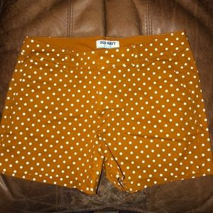 Gold Polkadot shorts